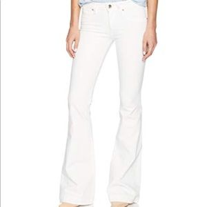 DL 1961 white flare jeans